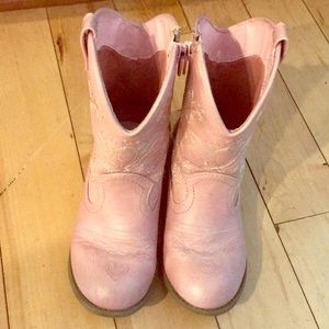 Other - Pink cowgirl boots size 11.